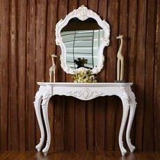 European porch table porch cabinet fashion porch table by wall table semi-circular porch table decoration table simple hall cabinet