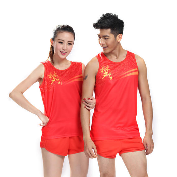 Speed ​​Eagle new track and field sportswear suit men and women wicking training games competition clothing marathon vest production requirements
