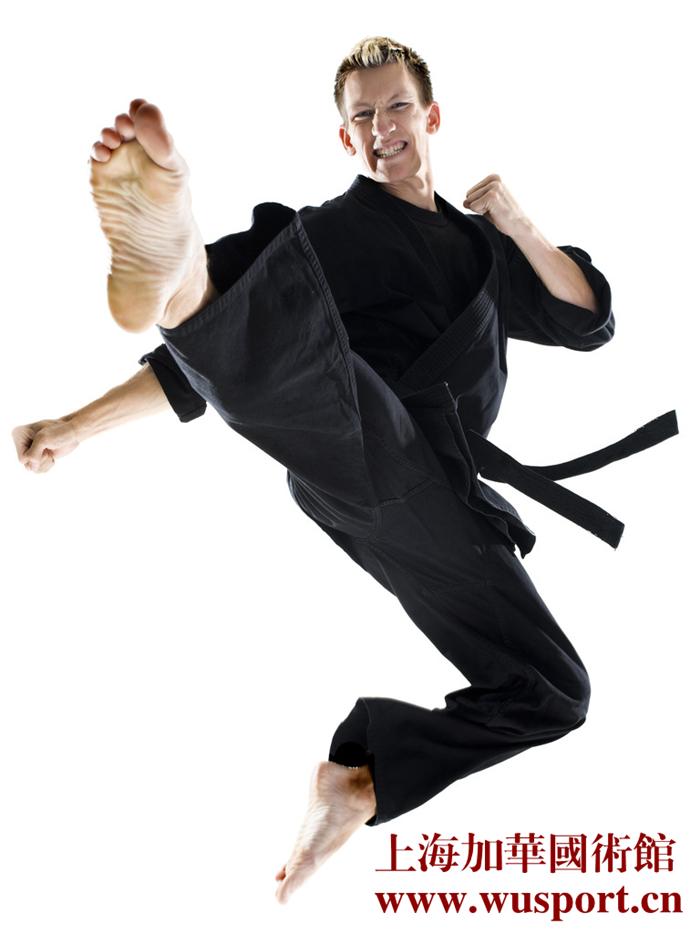 Ruaisen纯棉黑色空手道服加厚训练服全棉专业黑色空手道师范道服