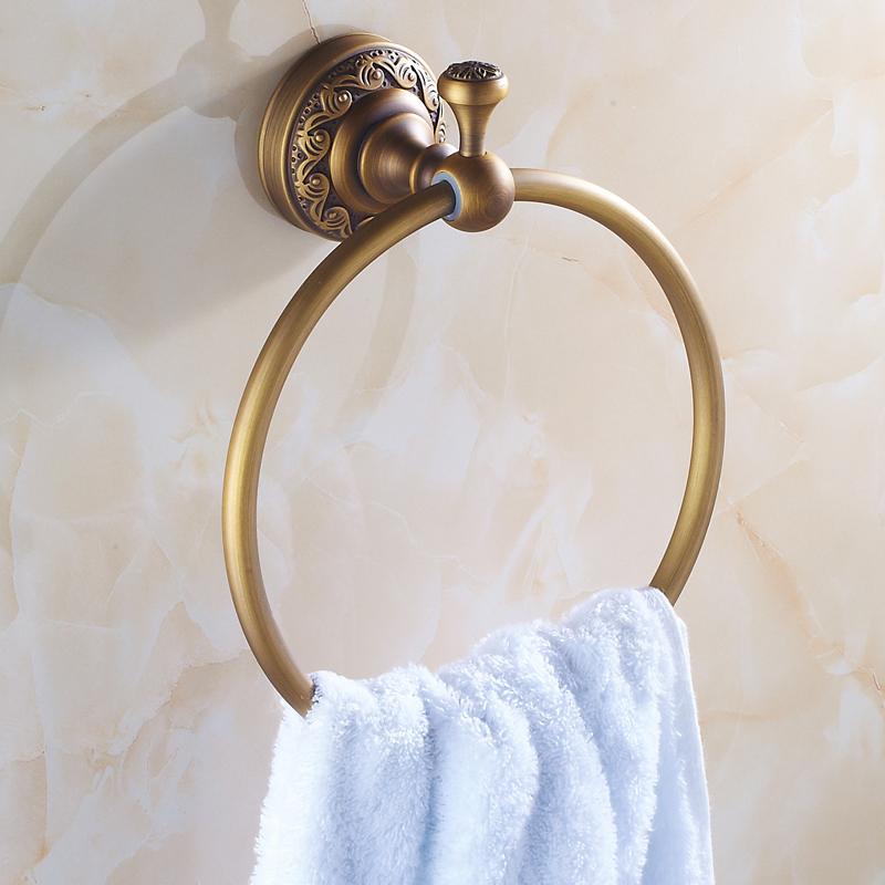 全铜毛巾环 仿古毛巾架 挂环毛巾圈浴巾环银古铜毛巾环 浴室挂件