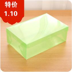 加厚有盖鞋子收纳盒A358 透明组合鞋盒男女鞋盒子塑料盒