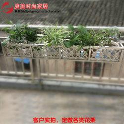 定做防腐不锈钢花盆架壁挂式客厅墙上户外阳台窗台栏杆置物架悬挂