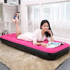 Comfortable air bed Thick inflatable bed flocking home increase single air mattress Outdoor portable bed
