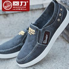 Pull back canvas shoes a pedal men's shoes lazy shoes men's spring shoes trend wild shoes Korean casual shoes