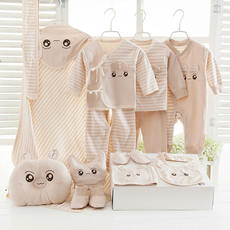 Baby clothes cotton autumn and winter newborn gift set 0-3 months full moon baby color cotton maternity supplies