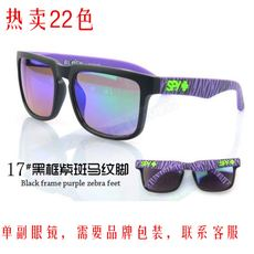 Explosion models sunglasses men and women sports sunglasses cross-mirror trade AliExpress HELM tide brand spy+ colorful reflective lenses