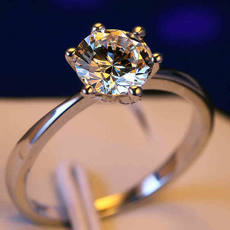Wedding ring fashion ring female ring sweet Japan and South Korea ring 925 sterling silver gold-plated silver ring couple ring