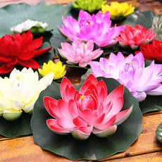 Simulation lotus leaf lotus water floating lotus lotus for Buddha dance props fish tank pond landscap props fake lotus