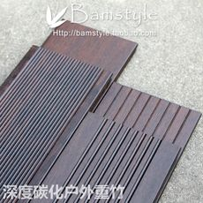 Large and small manor is easy to use deep carbonization, highly weather-resistant outdoor heavy bamboo flooring - oil-coated anti-corrosion bamboo