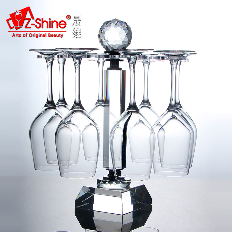 Z-SHINE 水晶玻璃倒挂高脚杯架 时尚悬挂旋转杯架红酒杯酒具套装