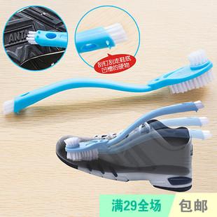 日用百货创意设计双头长柄清洁洗鞋刷皮鞋球鞋刷洗鞋专用刷子