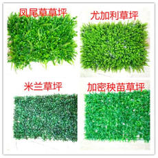 Simulation lawn encryption Milan lawn flower artificial turf plastic fake lawn background green plant wall plant wall decoration