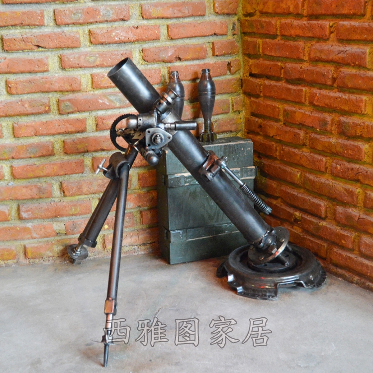 定做马克沁重机枪模型二战仿真迫击炮摆件真人CS军事装饰摄影道具