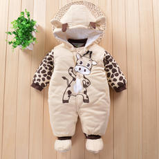 Maternal and child shop newborn boy one month baby clothes 0-6 months baby clothes winter plus Korean version of warm 3