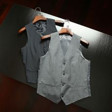 Recommended wild fry handsome a vest Slim loose business casual spring four buckle leisure vest