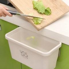 创意垃圾储物盒 橱柜门挂式塑料垃圾桶 多功能桌面垃圾收纳盒厨房