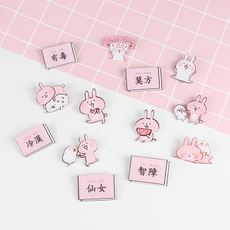 Japan and South Korea simple girl accessories temperament Bunny acrylic badge brooch student cute pin decorations