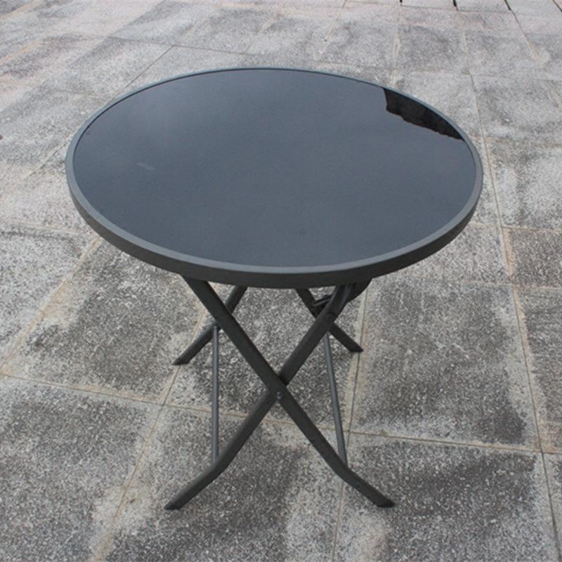 奥维堡户外阳台桌椅家具钢化玻璃桌子休闲长方桌餐桌编藤休闲庭院