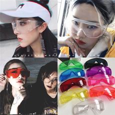 Net red vibrating transparent large box personality style windproof goggles sunglasses couple men and women glasses sunglasses
