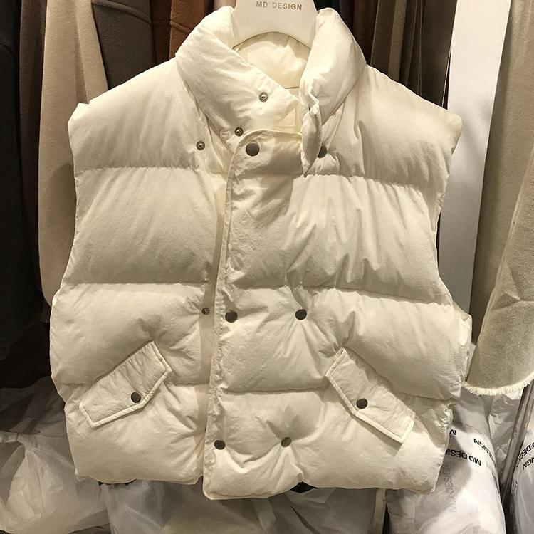 正品md design马夹韩国2017冬新款加厚修身显瘦素色百搭上衣马甲