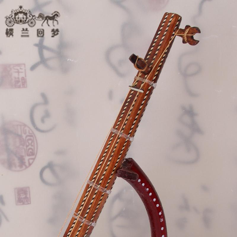 维吾尔族特色手工艺都塔尔少数民族乐器模型摆件工艺品新疆都塔尔