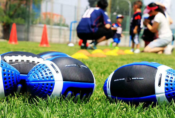 Hot kindergarten football 3rd soft leather football American football football training children 3rd American olive
