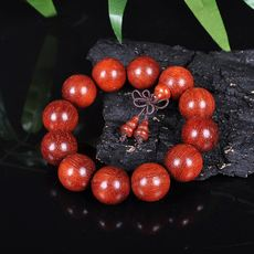 Mysterious Brazilian red pear bracelets Seiko small hole rosewood beads 2.0 popular men and women models jewelry beads