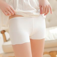 Summer ice silk seamless safety pants female three-point anti-light short-cut Boxer pants a leggings Slim pants