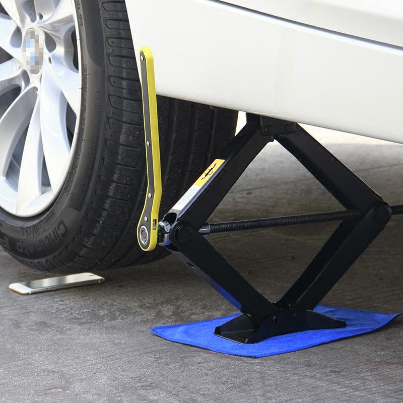 汽车千斤顶2吨 轿车用手摇式换胎工具非液压小车省力2t车载千金顶