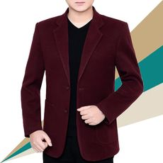 Autumn and winter casual clothes single Western middle-aged men's suit one-piece suit thick jacket male large dad suit jacket