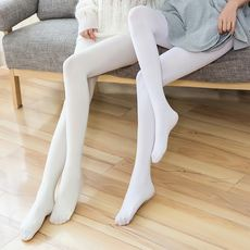 White velvet pantyhose bridal socks dance socks student socks practice socks bridesmaid socks fairy socks female socks white
