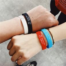 Original social people pig Peach network red hand ring couple personality sports silicone cartoon bracelet student gift tide