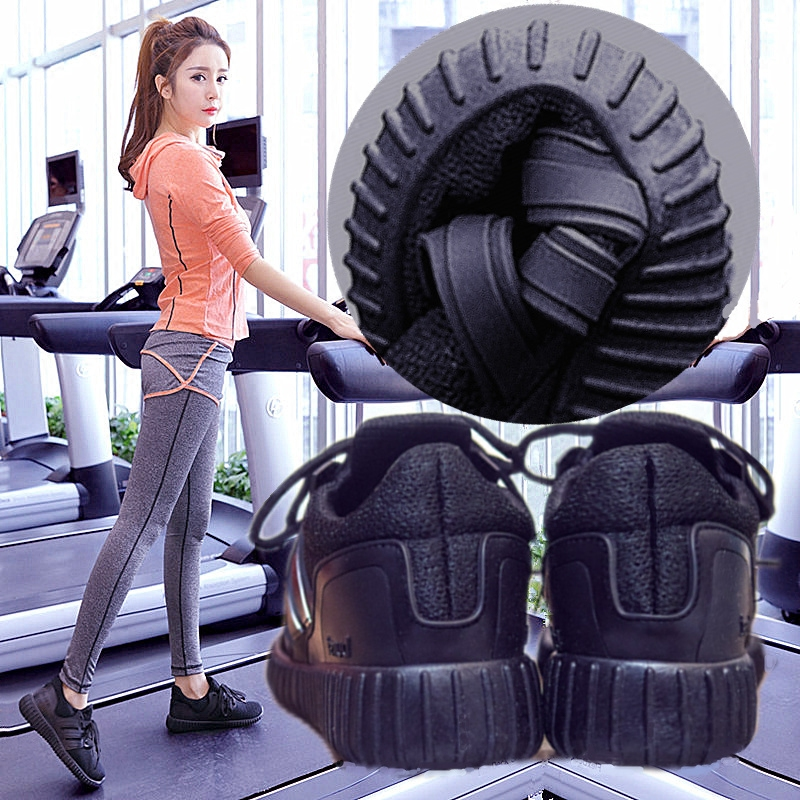 跑步机专用鞋女瑜伽软底健身房女士全黑运动鞋透气跑步鞋球鞋轻便