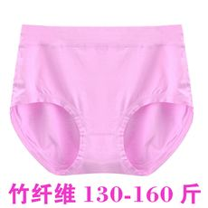 Large size bamboo fiber underwear women's fat MM loose high waist hip comfort breathable ladies briefs wholesale