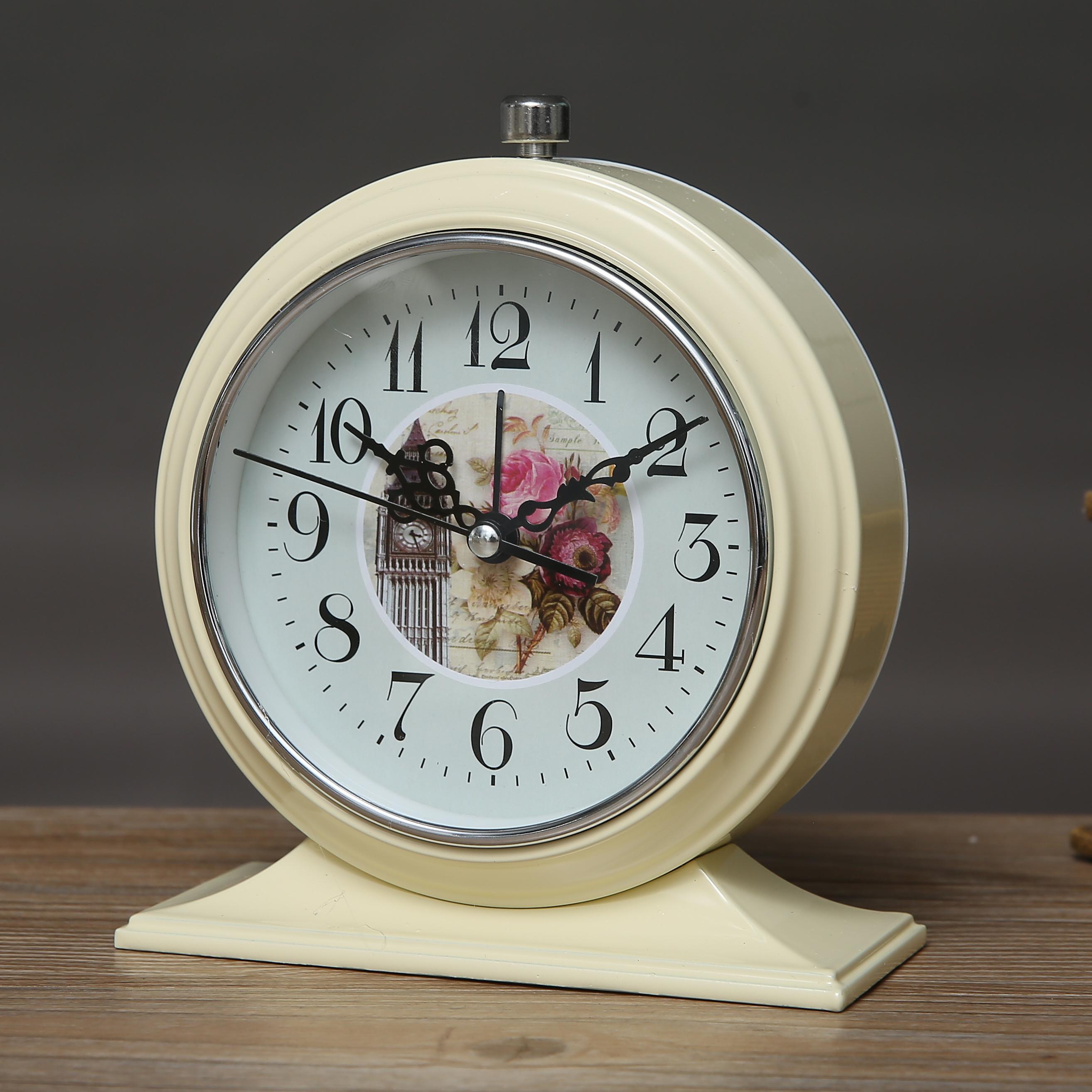 复古欧式机械打铃小闹钟静音夜光创意学生成人床头桌面台钟图片