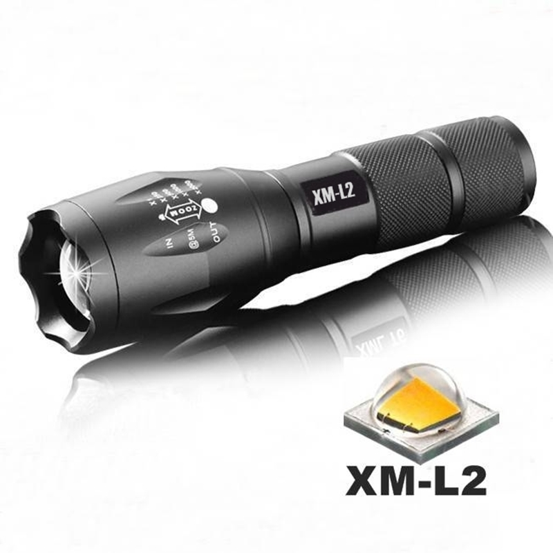 XM-L2 2200Lumens Zoomable LED Flashlight Torch