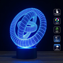 Amazing 3D illusion LED night light lamp