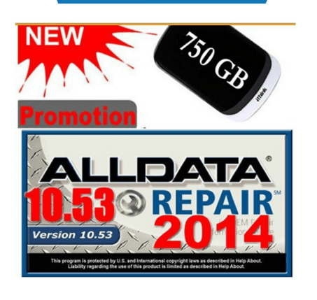 New Version Auto Repair Software Alldata 10.53 with 750GB New Hard Disk USB 3.0