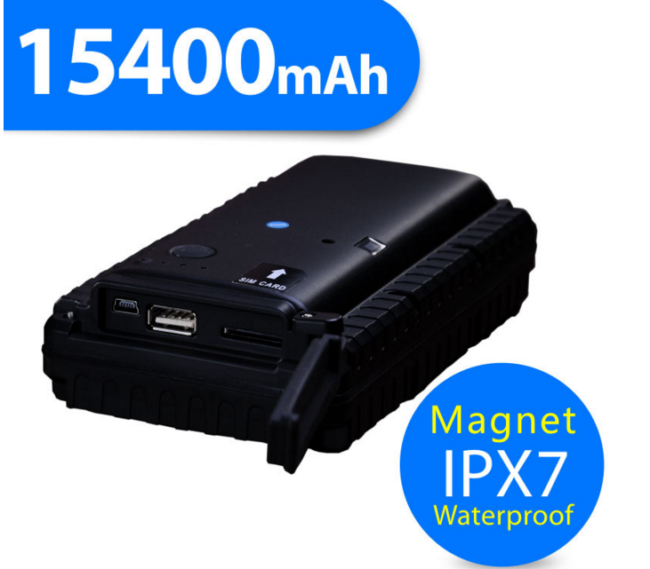15400mAh Long battery life gps tracker