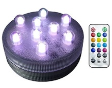 JEJA Wedding Party Home Decor Remote Controlled RGB Waterproof led Lights For Vases/ Bottle