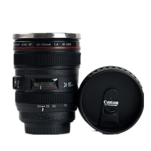 Caniam 24-105mm 5th Camera Lens Coffee Travel Mugs Cups