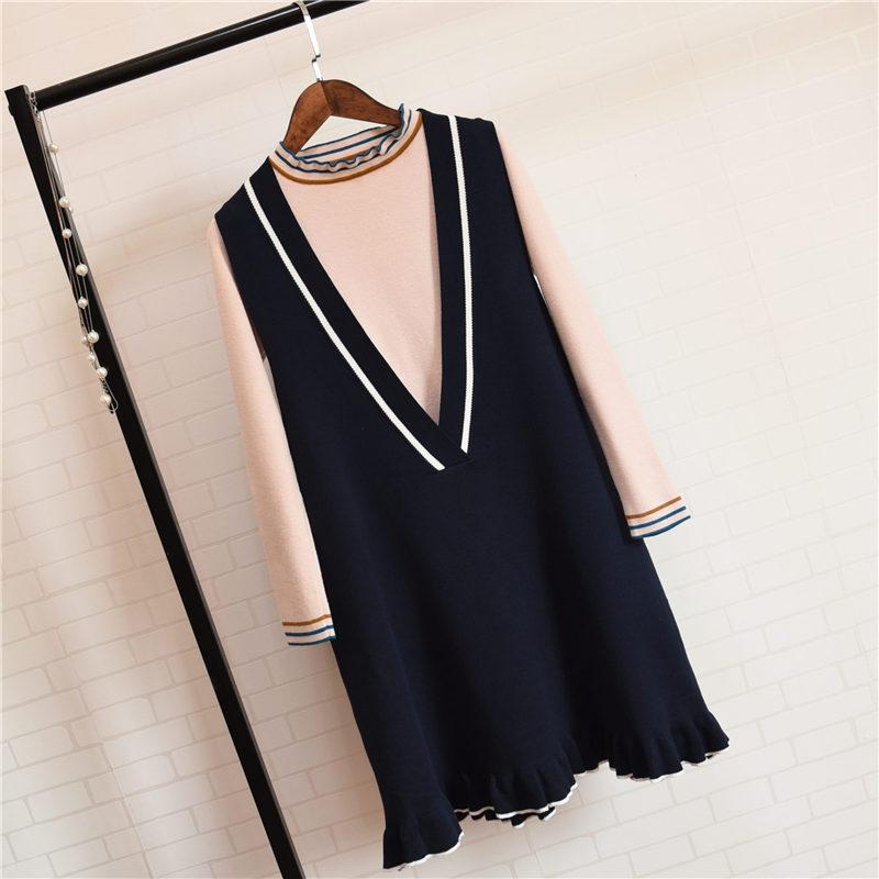 矮个女孩穿毛线裙,长度你选对了吗?