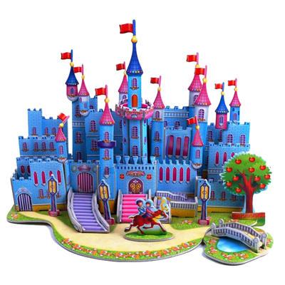 Крепость с 0D-пазлов про детей