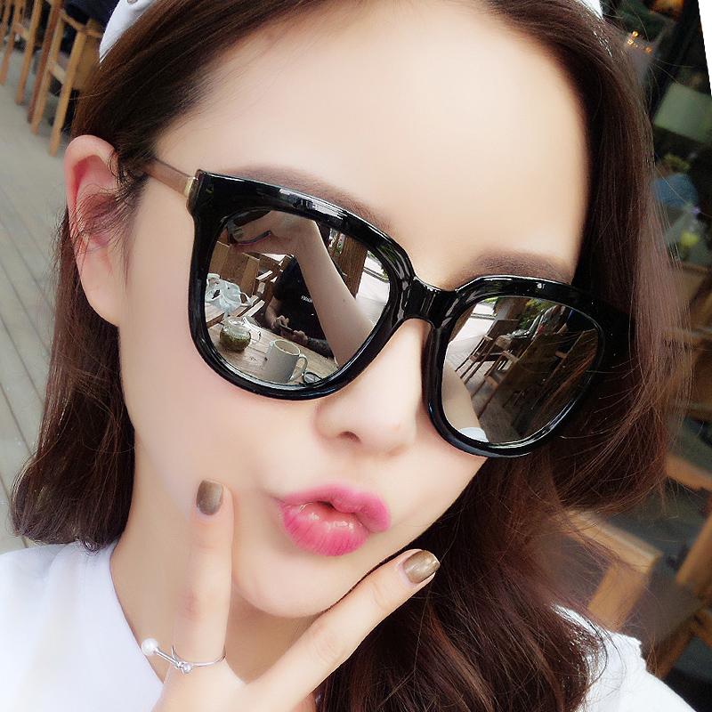 2017新款韩国太阳镜女2016偏光圆脸墨镜潮明星款太阳眼镜网红同款
