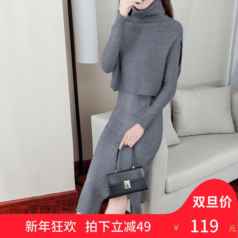 针织裙既抵挡冬日余寒,又能过度春的温暖