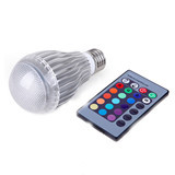 5W E27 Remote Control LED Bulb Light