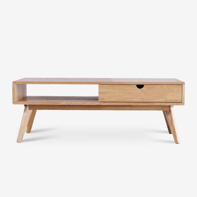 北欧风格茶几现代简约水曲柳原木色小户型创意实木家具日式电视柜-