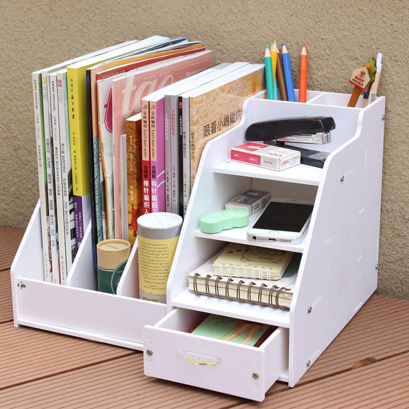 办公桌收纳盒 桌面收纳盒书架大号文件架文具资料架书桌整理盒架