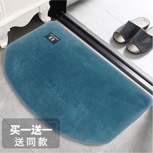 进门地垫地毯门垫吸水脚垫卫生间门口厨房卧室厕所浴室防滑垫半圆
