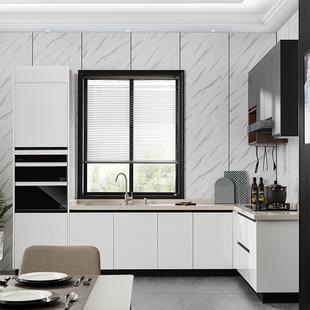 皮阿诺橱柜 厨柜定制厨房整体橱柜石英石台面装修简易开放式家用